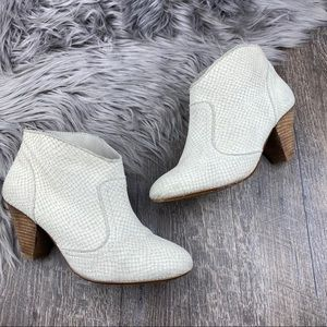 FREE PEOPLE SIXTYSEVEN 'NELVA' Cream Snake Booties